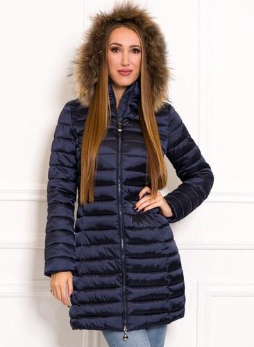 Női téli kabát eredeti rókaszőrrel Due Linee - Sötétkék - Glami.hu cbaf7b1591