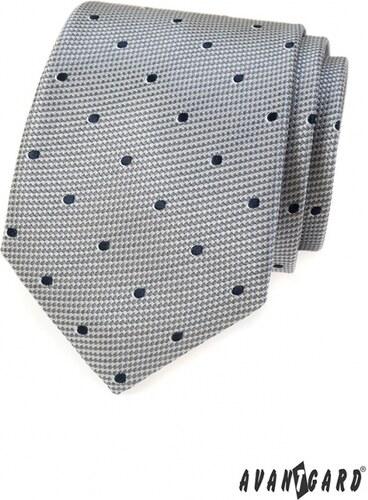 ae7a5c146f Avantgard Szürke férfi nyakkendő rendszeres pontokka - Glami.hu