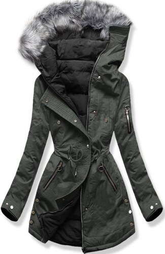 33915b2ca9ac Trendovo Oboustranná bunda khaki černá - Glami.cz