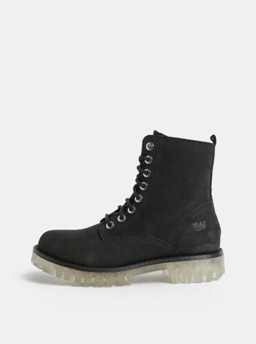 Čierne dámske kožené členkové topánky Weinbrenner - Glami.sk 454c5839235