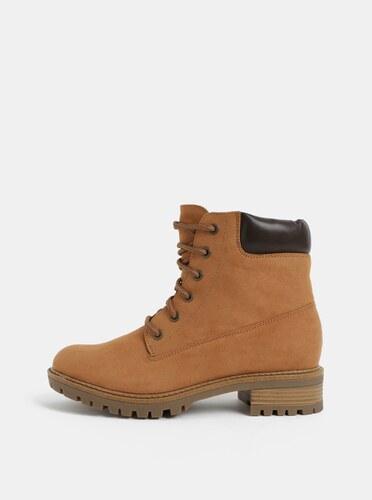 6e2e65e19e Hnedé členkové topánky v semišovej úprave Dorothy Perkins - Glami.sk