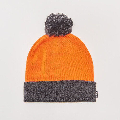 13baac702 House - Dvojfarebná čiapka beanie s brmbolcom - Oranžová - Glami.sk