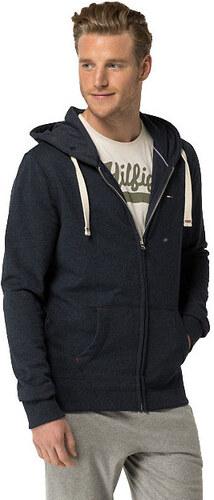 Tommy Hilfiger Pánska mikina s kapucňou Icon Heavy weight Knit Zipthru  Hoody 2S87905806-416 Navy 87db60c2ff5