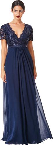 CITYGODDESS Dlouhé plesové šaty LAUREN tmavě modré - Glami.cz dbfee81b22