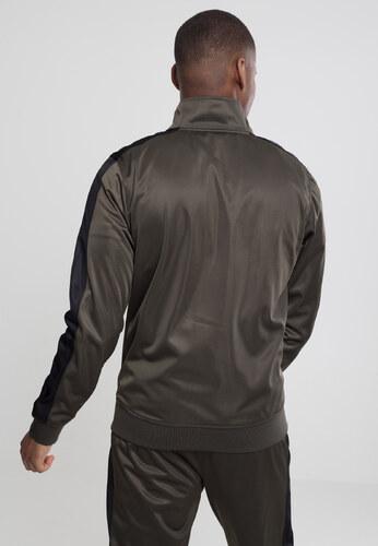 -25% Urban Classics Pánska prechodná bunda Track Jacket darkolive black 694a23b2296