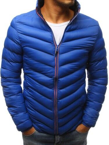 Manstyle Pánska zimná prešívaná bunda modrá - Glami.sk 0167cea9824