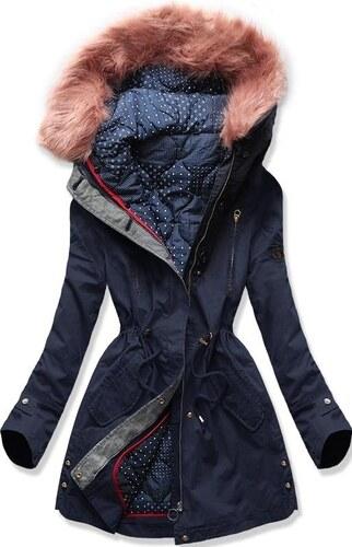 494b9c111b MODOVO Női téli kabát kapucnival PO-730 sötétkék - Glami.hu
