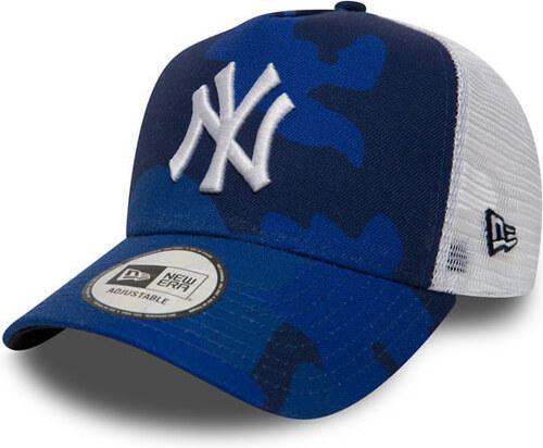 Kšiltovka New Era 9Forty A Frame Trucker MLB Camo NY Yankees Blue ... f40849c1ed