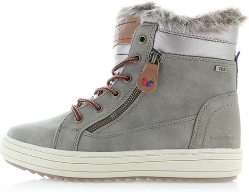 bdab173274 Tom Tailor Sivo-zelené členkové topánky 5894702 - Glami.sk