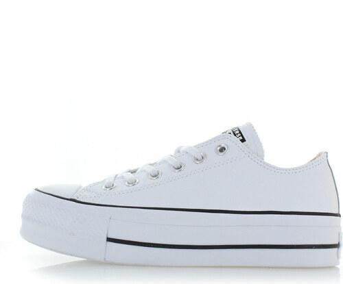 Converse Dámské bílé nízké kožené tenisky Chuck Taylor All Star Lift ... 3b645bde48