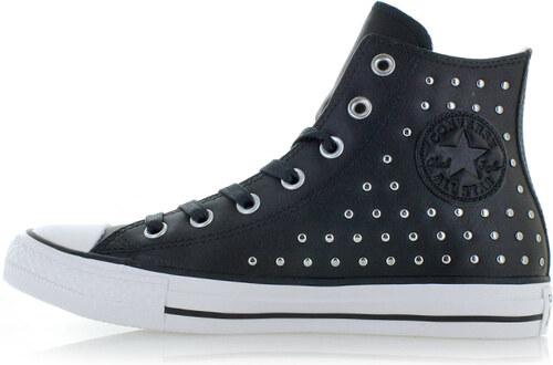 aef339199a4 Converse Dámské černé vysoké kožené tenisky Chuck Taylor All Star Leather  Stud