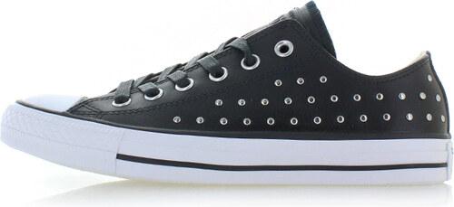 Converse Dámské černé nízké kožené tenisky Chuck Taylor All Star Ombre Stud c1089155fa