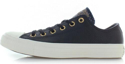 -40% Converse Dámské černé nízké kožené tenisky Chuck Taylor All Star  Leather and Gator 4a05c919166