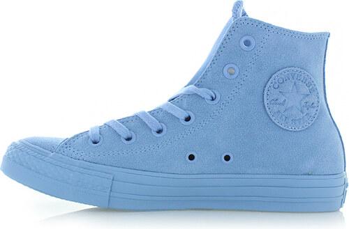 -40% Converse Dámské modré vysoké kožené tenisky Chuck Taylor All Star Mono  Suede 3046b3caa90