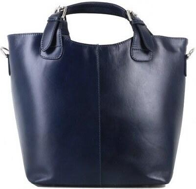 Talianske kožené kabelky nákupné tašky Vera Pelle modré Senata ... c03fb608762
