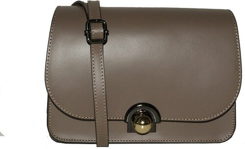 a5908ba12d ... TALIANSKE Talianska malá plesová kožená kabelka luxusná crossbody taupe  Elis