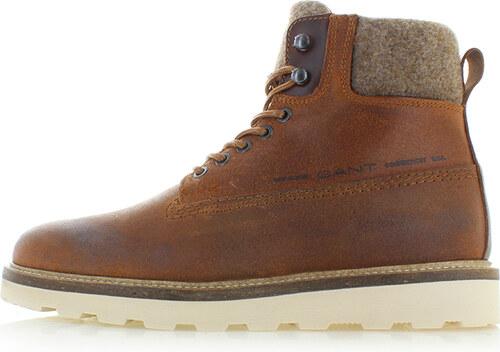 574e95c72d GANT Pánske škoricové kožené členkové topánky Don - Glami.sk