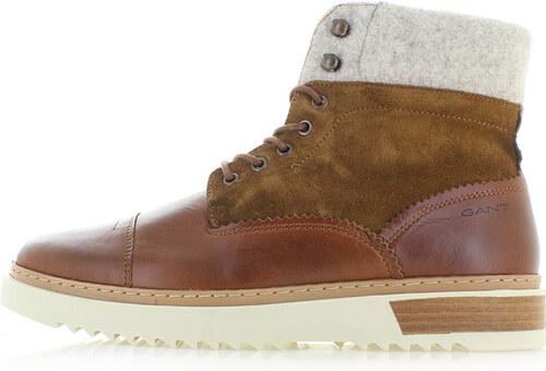 308976f9ff GANT Pánske škoricové kožené členkové topánky Jean - Glami.sk