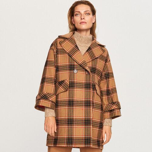 3e658b0b82 Reserved - Kockás gyapjú kabát - Többszínű - Glami.hu