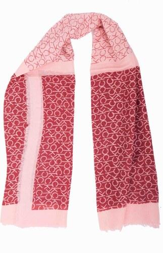 Calvin Klein červený šátek CK Allover Check Scarf - Glami.cz 8ea77c9f4a