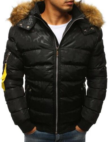 2657804d92 Manstyle Férfi téli kabát fekete - Glami.hu