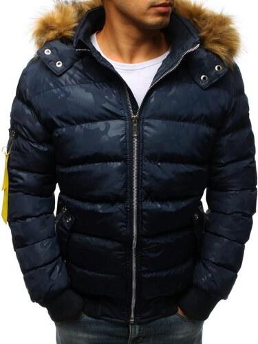 130fd54b31 Manstyle Férfi téli kabát kékre steppelt - Glami.hu