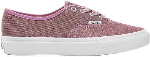 VANS Dámske tenisky UA Authentic Lurex Glitter Pink True White VA38EMU3U fa281657f8