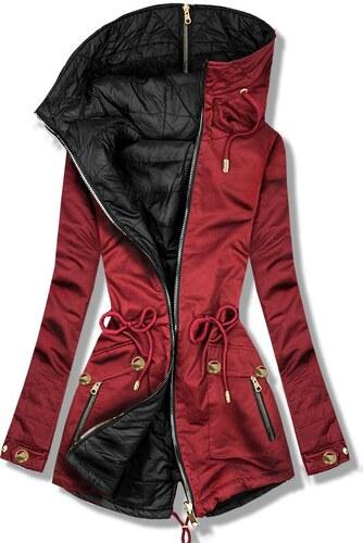 4057f3da2e Butikmoda Bordó színű kifordítható parka kabát - Glami.hu