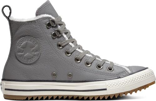 Converse šedé unisex zimní tenisky Chuck Taylor All Star Hiker Boot Hi  Mason - 37 cc342d9478