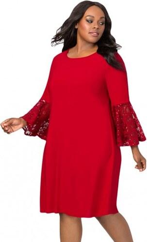 Spoločenské červené swingové šaty pre moletky LC610475-3 - Glami.sk 9e426df5fa
