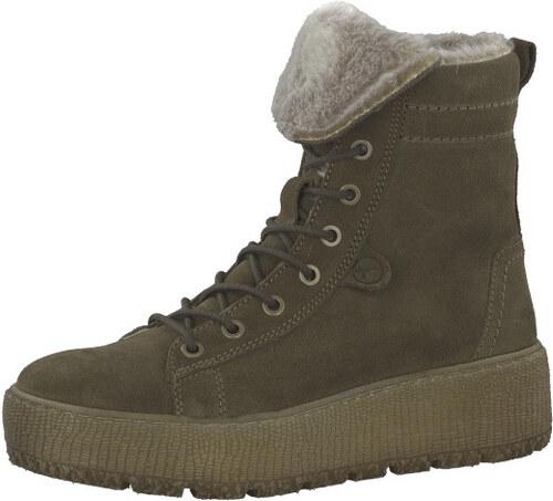 b29c077e93d3 Tamaris Dámske členkové topánky 1-1-26265-21-722 Olive - Glami.sk