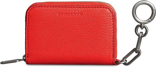 Burberry Link Detail Leather Ziparound Wallet - Red - Glami.sk 860b9e6ea31