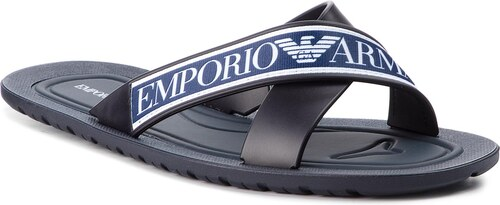 Papucs EMPORIO ARMANI - X4P079 XL293 A044 Blue White Night - Glami.hu 0168eb0090