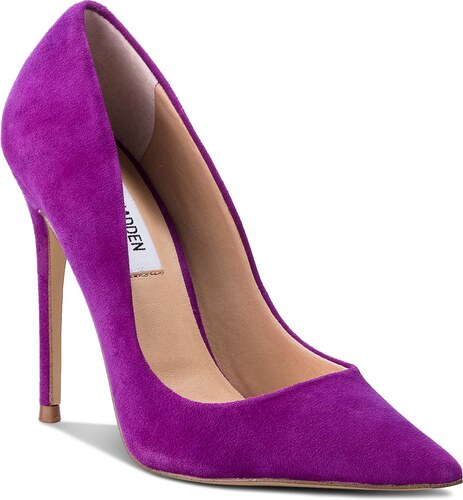 Lodičky STEVE MADDEN - Daisie Heel SM11000040-03002-505 Purple Suede ... 5fbf9b5b2e