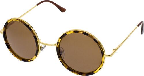 47522e6b4 Level One Slnečné okuliare lenonky Colossus zlaté rámy hnedé sklá ...