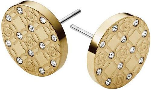 Michael Kors Pozlacené luxusní náušnice s krystaly MKJ4276710 - SLEVA 6c76bc7d5ad