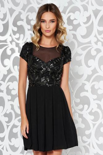 StarShinerS Fekete alkalmi harang ruha csipkés anyag flitteres díszítés 8f4133940a