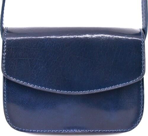 Dámská malá kožená kabelka crossbody (lovecká) Arteddy - tmavě modrá ... 4716d6b968a