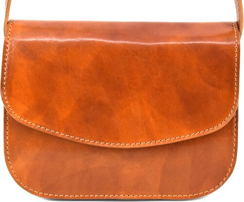 Dámská kožená kabelka crossbody (lovecká) Arteddy - camel - Glami.cz f101621c4cf