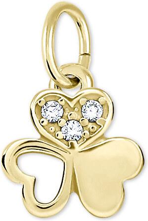 a04c30d35 Brilio Nežný zlatý prívesok 249 001 00574 - 0,40 g - Glami.sk