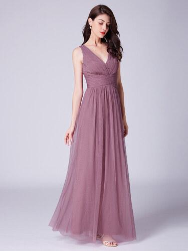 b8314fc8436c Ever-Pretty Elegantně zasněné starorůžové šaty s plisovaným živůtkem ...