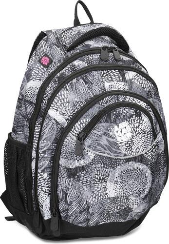 Bagmaster Černo-bílý školní batoh - Glami.cz f117822157