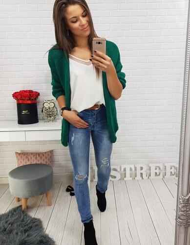 2215b9c01428 Brand Dámsky sveter Melissa (my0283) - zelený my0283 - Glami.sk