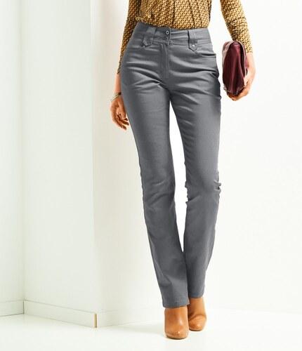863903b09104 Blancheporte Rovné nohavice s vysokým sťahujúcim pásom sivá - Glami.sk