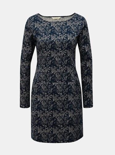 b90f8f061629 Bielo–modré vzorované šaty s vreckami SKFK - Glami.sk
