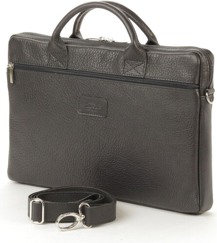 WILD SKIN Kožená taška na notebook CALLE - černá popruh přes rameno  bez  popruhu 1d9e5a38c9