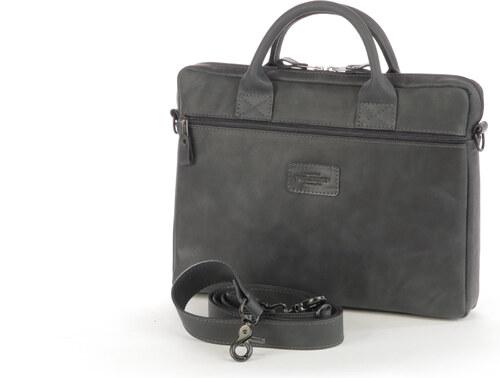 a061793a66 WILD SKIN Kožená taška na notebook CAMPO - BIARRITZ černá popruh přes  rameno  s popruhem