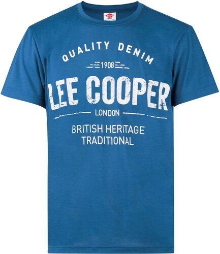 c8d4f7d88 Triko Lee Cooper Large Logo Print T Shirt pánské Royal - Glami.cz