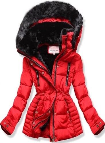 MODOVO Dámska zimná bunda s kapucňou W736 červená - Glami.sk 83505f8abd2