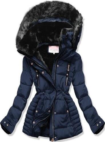 MODOVO Dámska zimná bunda s kapucňou W736 tmavo modrá - Glami.sk 8dfe2e587eb